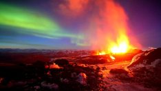 Icelandic Volcanic Eruption Northere Lights - FrizeMedia - Digital Marketing Advertising Consulting