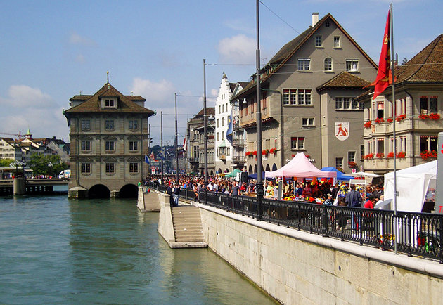 Switzerland-Zurich-Limmatquai-And-Rathaus - FrizeMedia - Digital Marketing And Advertising - Charles Friedo Frize
