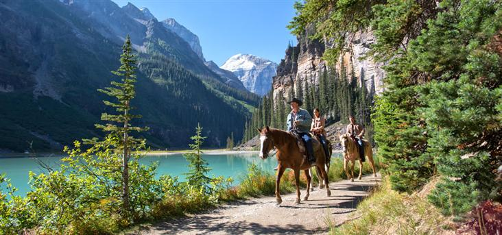 Banff Lake Louise HorseBack Riding - FrizeMedia